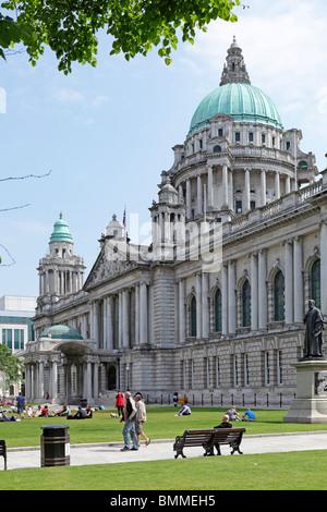 City Hall, Belfast, Northern Ireland - Stock Photo
