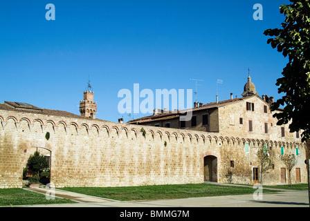 City ramparts, Buonconvento, Siena, Tuscany, Italy - Stock Photo