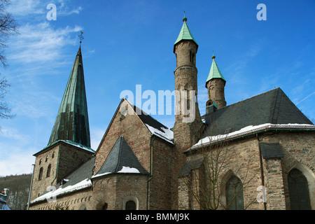 Evangelische Christus-Kirche in Plettenberg, Naturpark Ebbegebirge, Naturpark Homert, Sauerland, Nordrhein-Westfalen - Stock Photo