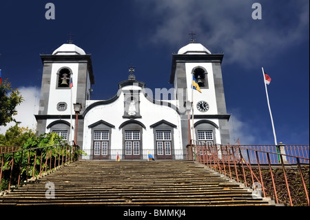 Nossa Senhora de Monte church, Monte, Madeira, Portugal - Stock Photo