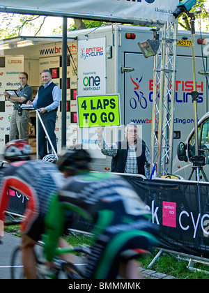 Leazes Criterum is the first of 3 competition in Northern Rock Cyclone done in Newcastle upon Tyne and Northumberland - Stock Photo