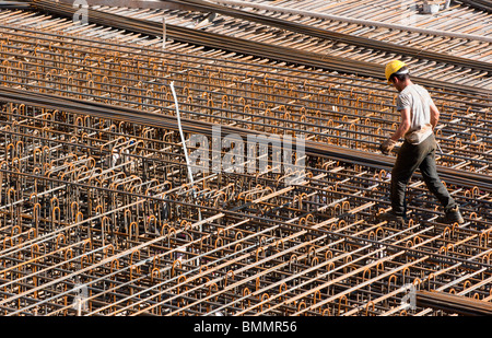 Large scale construction site at Salzburg railway station. Austria - Stock Photo