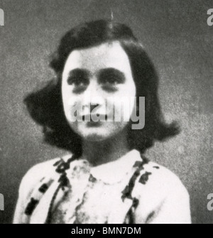 ANNE FRANK (1929-1945)  Jewish victim of the Holocaust whose diary is one of the world's most read books - Stock Photo