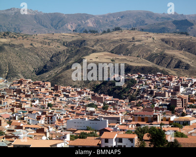 View of the city of Sucre in Bolivia - Stock Photo