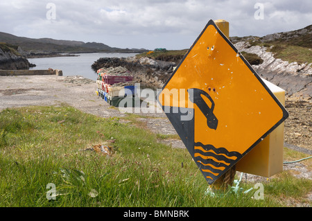 Danger Sign - John Gollop - Stock Photo
