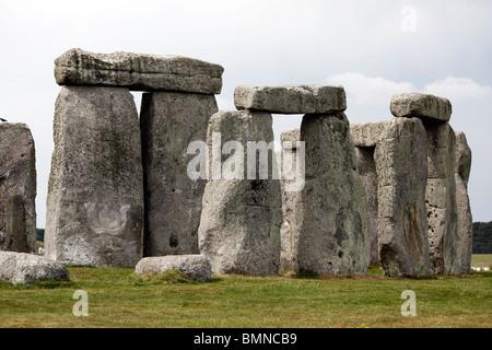 Stonehenge in Wiltshire in England - Stock Photo