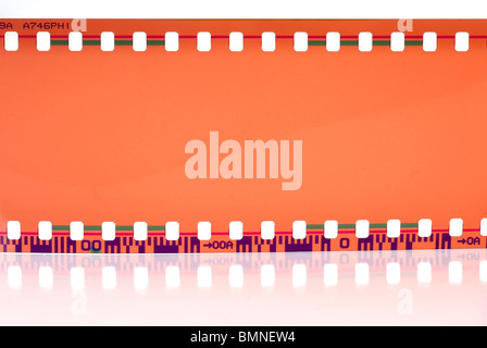 Close-up image of 35mm film strip isolated on white background - Stock Photo