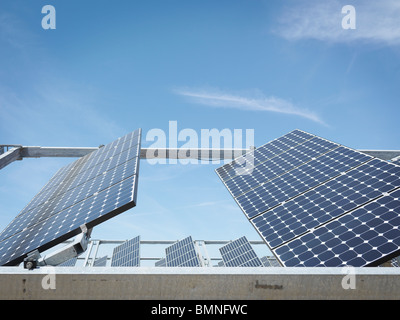 Solar power station showing front panels