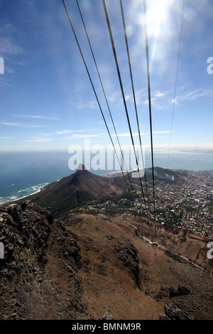 A Panoramic View Of Lions Head The Cable Car And Signal Hill In - Car signal hill
