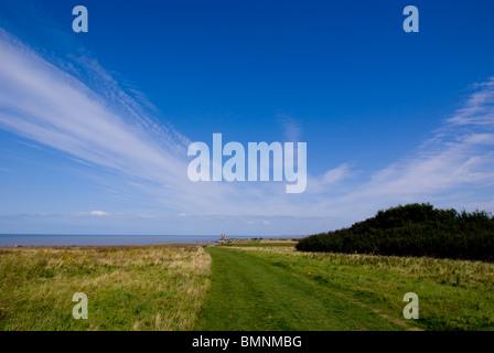 Europe, Uk, England, Kent, Reculver Towers Herne Bay - Stock Photo