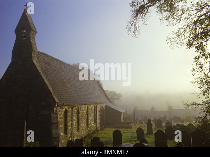 Snowdonia, Penmachno Village Church - Stock Photo