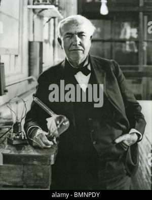 THOMAS ALVA EDISON  (1847-1931) US inventor and physicist - Stock Photo