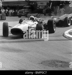 John Surtees in the Honda V12 at the  1967 Monaco Grand prix - Stock Photo