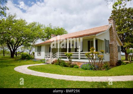 The Lyndon Bains Johnson birthplace home in the LBJ National Historic Park, Stonewall, Texas, USA. - Stock Photo