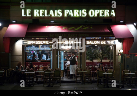 Bar Le Relais, Avenue de L' Opera, Paris - Stock Photo