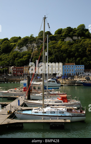 Pleasure craft on the Dover Marina & Wellington Dock Dover Kent England UK - Stock Photo
