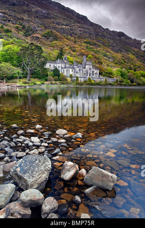 Kylemore Abbey, Co Galway, Ireland. - Stock Photo