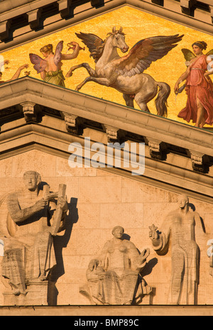 Closeup detail of Munich's Opera house and National theatre. Germany. - Stock Photo