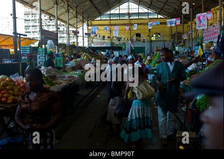 In the central market of Maputo, Mozambique - Stock Photo