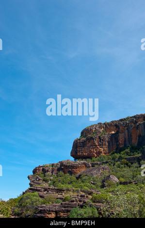 The famous sandstone escarpment at Kakadu National Park Northern territory Australia. - Stock Photo