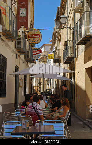 Cafe in side street off the Plaza de Andalucia, Ubeda, Jaen Province, Andalucia, Spain, Western Europe. - Stock Photo
