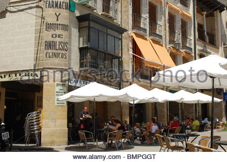 Cafe in the Plaza de Andalucia, Ubeda, Jaen Province, Andalucia, Spain, Western Europe. - Stock Photo