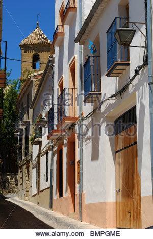 Inner city terraced houses, Ubeda, Jaen Province, Andalucia, Spain, Western Europe. - Stock Photo