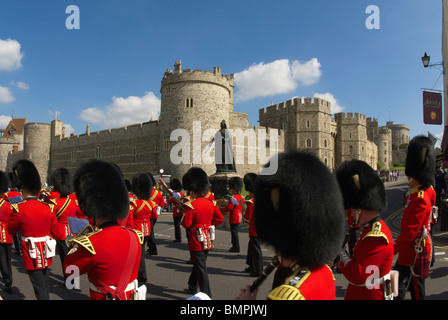 Guards' Marching Band at Windsor Castle - Stock Photo