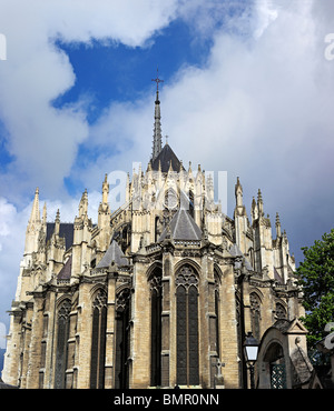 Cathedral of Our Lady of Amiens, UNESCO World Heritage Site, Amiens, Somme department, Picardy, France - Stock Photo