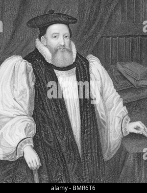 George Abbot (1562-1633) on engraving from the 1800s.  English divine and Archbishop of Canterbury. - Stock Photo