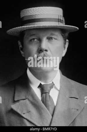 Portrait photo c1900 of Scottish author Sir Arthur Conan Doyle (1859 - 1930) - creator of fictional detective Sherlock - Stock Photo