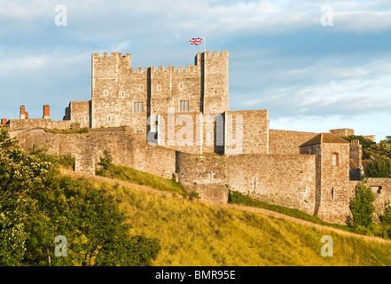 Dover Castle at Dawn, South East England - Stock Photo