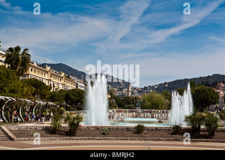 The Fountains at Forum Jacques Medecin,Place Massena,Nice,Cote d'Azur - Stock Photo