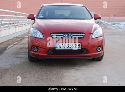 Kia Pro cee'd 1.6 CRDi - MY 2009 - infra red metallic - 3D - Korean popular lower middle class car, segment C - - Stock Photo