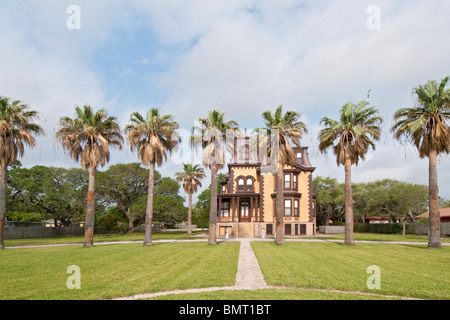 Texas, Rockport - Fulton, Fulton Mansion State Historic Site, completed 1877, French Second Empire Style - Stock Photo