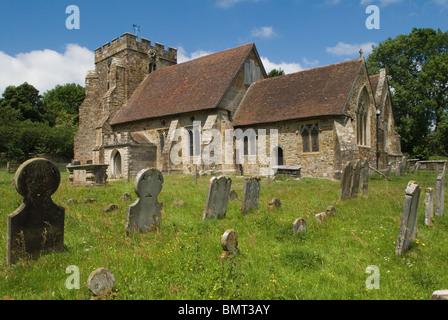 John Fuller of Brightling Sussex 1757-1834. Brightling Parish Church churchyard of St Thomas a Becket church. - Stock Photo