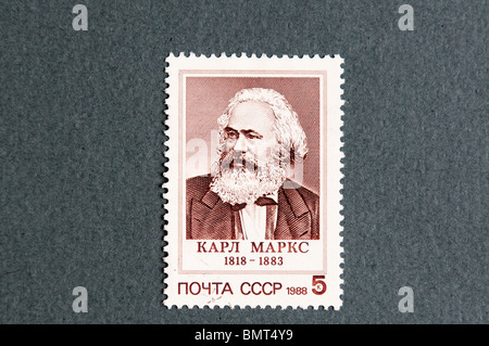 Karl Heinrich Marx in a USSR stamp - Stock Photo
