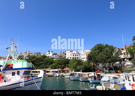 greece northern sporades skiathos island view of the town - Stock Photo