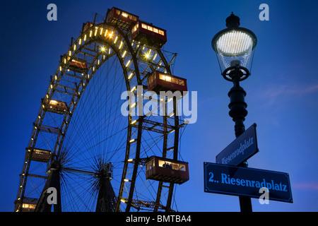 Riesenrad Ferris wheel Vienna, Austria - Stock Photo