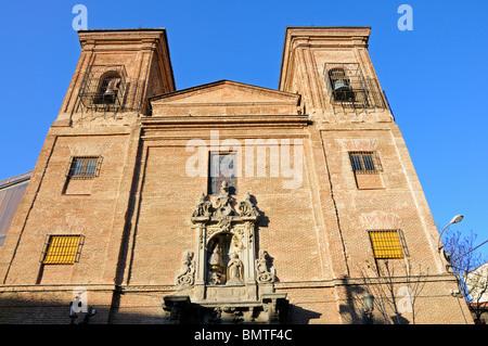 Madrid, Spain. Iglesia de San Martin (1725; restored 1999) in Plaza de Tudesco - Stock Photo