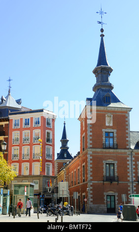 Madrid, Spain. Palacio de Santa Cruz / Palace of the Holy Cross, Plaza de la Provincia: Habsburg Palace, now Ministry - Stock Photo