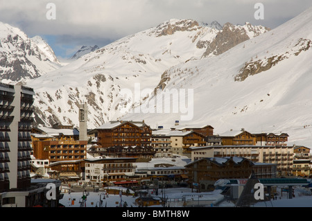 Tignes Le Lac, Tiges Ski resort, France, Europe - Stock Photo