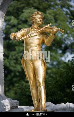 Johann Strauss Monument in Stadt Park, Vienna, Austria - Stock Photo