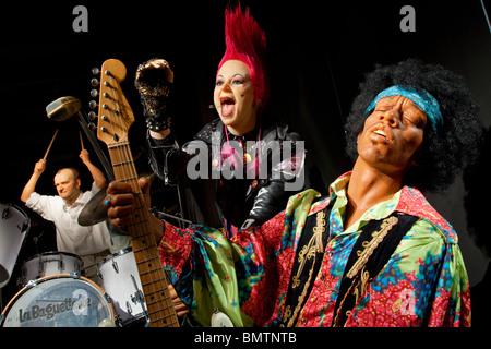 Jimi Hendrix, GREVIN MUSEUM, PARIS, FRANCE - Stock Photo