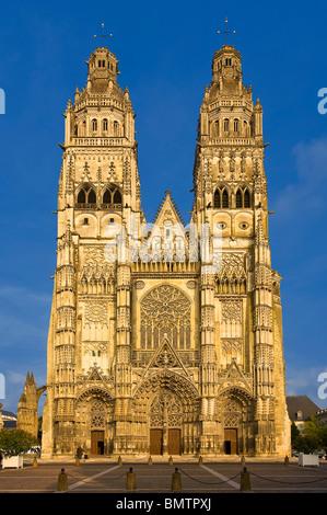 Saint Gatien Cathedral, Tours - Stock Photo