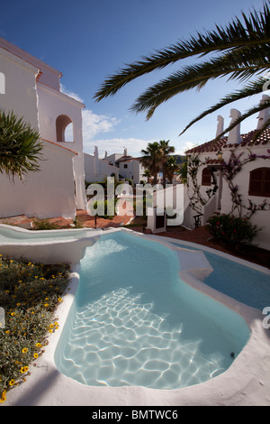 luxury villa with water feature - Stock Photo