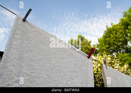 Washing On A Line - Stock Photo