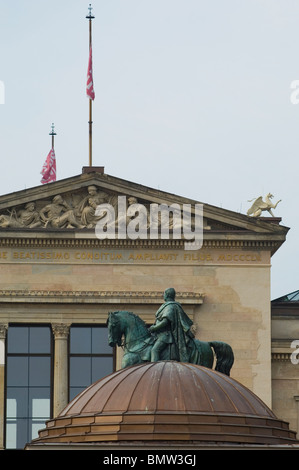 Old national gallery and Neues Museum in Berlin Germany Europe - Stock Photo