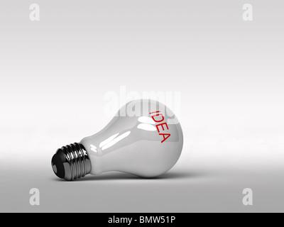 Inspirational light bulb - Stock Photo
