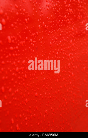 Background abstract texture water drops on red - Stock Photo